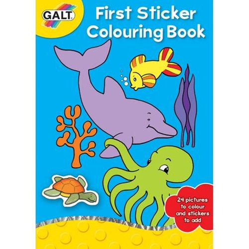 First Sticker Colouring Book - Prima Carte De Colorat + Abtipilduri