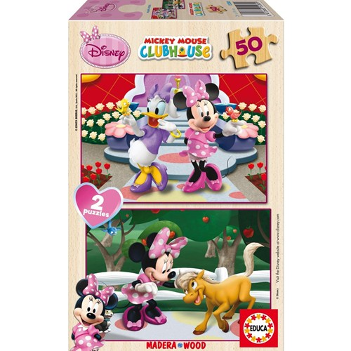 Puzzle Minnie Mouse 2x50